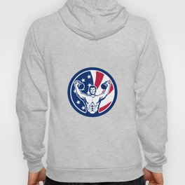 American Physical Fitness USA Flag Icon Hoody
