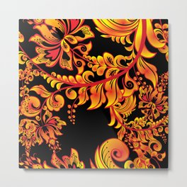Fire ornament Metal Print