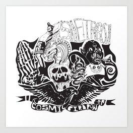 Cosmic Bird Power Art Print