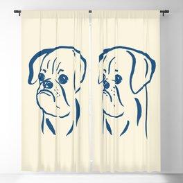 Petit Brabancon (Beige and Blue) Blackout Curtain