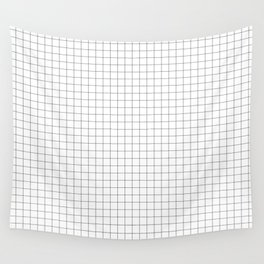 Grid lines pattern Wall Tapestry