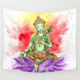 The Green Tara Wall Tapestry