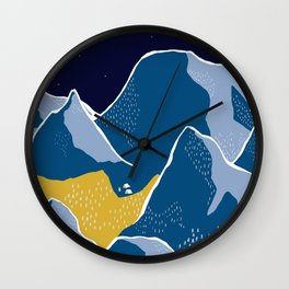 Say goodnight to the mountains Wall Clock