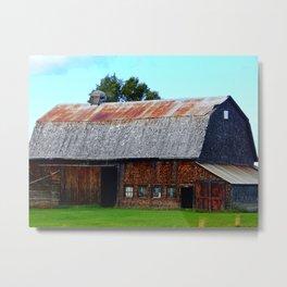Vintage Acadian Barn Metal Print