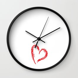 Piano Princess Professional Musician Heart T-Shirt Wall Clock