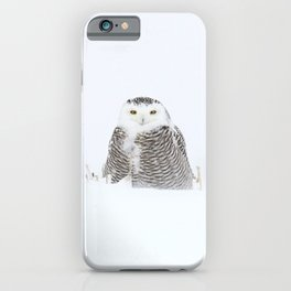 White on white iPhone Case