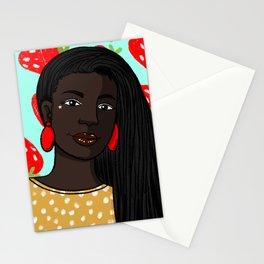 Strawberry locs Stationery Cards