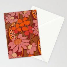 Crazy pinks 50s Flower  Stationery Cards