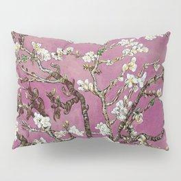 Vincent van Gogh Blossoming Almond Tree (Almond Blossoms) Fuchsia Sky Pillow Sham