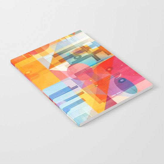 Whimsical Sunny Geometry Notebook