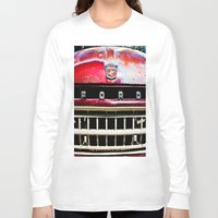 ford Long Sleeve T-shirts featuring Old Ford by Kim Ramage