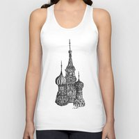 moscow Tank Tops featuring Moscow by Name