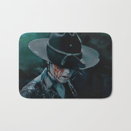 Carl Grimes Shot In The Eye - The Walking Dead Bath Mat