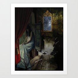Boulevard of broken dreams surrealism digital art Art Print