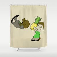 psych Shower Curtains featuring Psych! by AriesNamarie