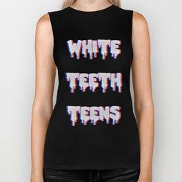 White Teeth Teens Biker Tank