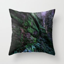 Enchanted Forest Wall (Where the Fairies Dwell) Throw Pillow