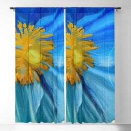 Poppy Blues II Blackout Curtain