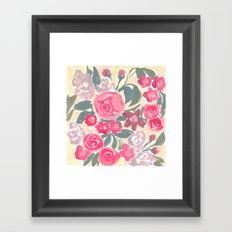Cream Floral Framed Art Print