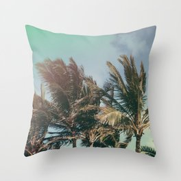 Vintage Palm Hawaii Summer Daze Throw Pillow