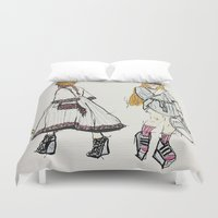 sassy Duvet Covers featuring SASSY BXTCHES by Chloe Laura