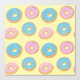Doughnut Pattern Canvas Print