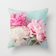 3 peonies Throw Pillow