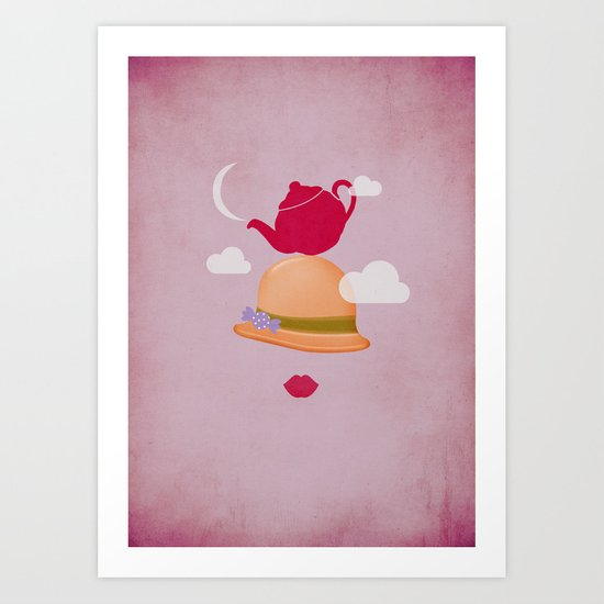 MRS CLOUD Art Print