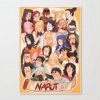 naruto Canvas Prints featuring Naruto by kuma naru