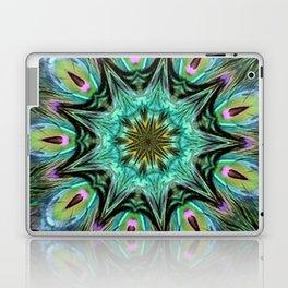 Colorful Peacock Feather Kaleidoscope Laptop & iPad Skin