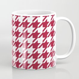Bama crimson tide college state pattern print university of alabama varsity alumni gifts houndstooth Coffee Mug