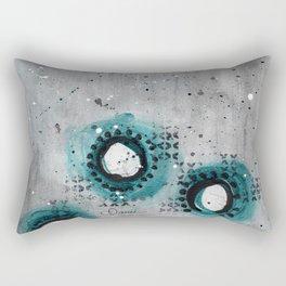 Charcoal Circles Low Rectangular Pillow