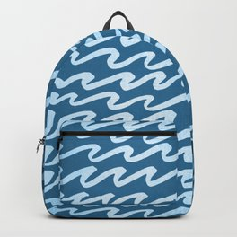 Abstract Waves - Blue Raspberry Shimmer on Saltwater Taffy Teal Backpack