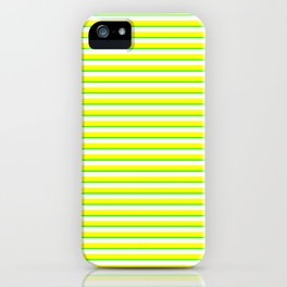 Banana and Lime Yellow and Green Stripes iPhone Case