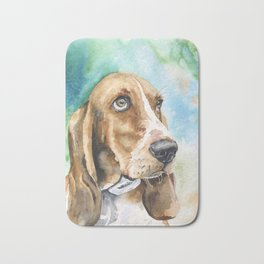 Bassett Hound Watercolor | Pillow Cover | Dogs | Home Decor | Custom Dog Pillow | Dog Mom | Hound Bath Mat