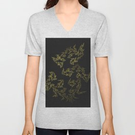 Gold Leaf Unisex V-Neck