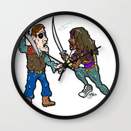 The Walking Un-Dead Warriors...  Battle of the blades! The Governor Vs. Michonne Wall Clock