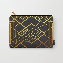 Art Deco Trumpet Carry-All Pouch
