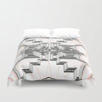 gatsby Duvet Covers featuring Gatsby Mandala by HRE.