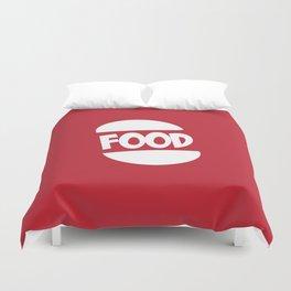 FOOD logo fun generic food logo Duvet Cover