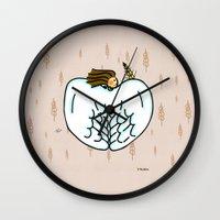 virgo Wall Clocks featuring Virgo by Giuseppe Lentini