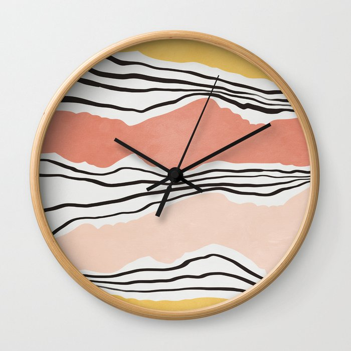 Modern irregular Stripes 01 Wall Clock