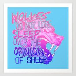 The Opinion of Sheep Art Print
