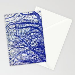 Solitary Tree in the Shadow of a Blue Moon Stationery Cards