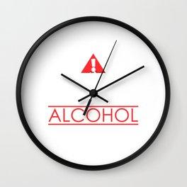 May Contain Alcohol Drinking Wall Clock