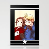 hetalia Stationery Cards featuring Hetalia America & China by Amymone Montoya