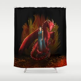 Queen of the Dragon Shower Curtain