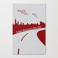 ferris bueller Canvas Prints featuring Ferris Bueller by Jonathan Bender