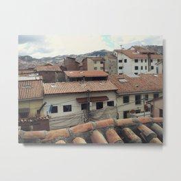 Cusco Rooftops Metal Print