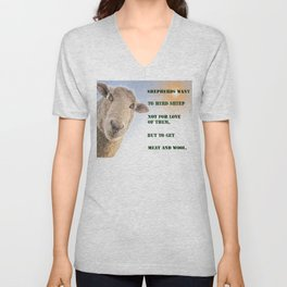Shepherds and sheep Unisex V-Neck